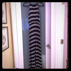 Navy w/ white stripe Maxi dress